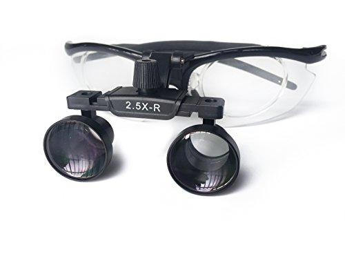 East Brand 2.5X-R Aluminium Frame Surgical Binocular Loupes DY-111 Optical Glass Dental Lab Equipment by East Dental