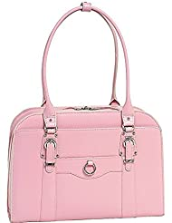 McKlein Hillside Leather 15.4 Laptop Tote - Pink