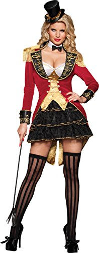 InCharacter Costumes Women's Vest Ruffle Tiered Skirt Jacket With Epaulettes by InCharacter