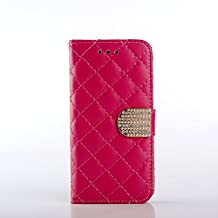 Apple iPhone 6 6S 4.7inch Wallet Case,Vivi shop Premium PU Leather Protective Flip Wallet Case with Credit Card Slots Diamante Magnetic Cover for Apple 4.7inch iPhone 6 6s (rose)