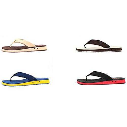 XIAOLIN Zapatillas de los hombres cómodos sandalias antideslizantes de la playa del verano Sandalias ocasionales Europa y la carpeta de la tendencia de los Estados Unidos (tamaño opcional) ( Color : 0 04