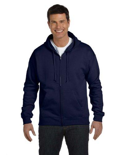 Hanes Men's Full Zip EcoSmart Fleece Hoodie, Navy, 3X-Large
