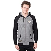 ICER Brands NFL Men's Full Zip Hoodie Sweatshirt Raglan Jacket, Team Color