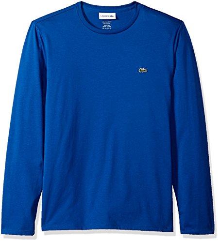 f4ecff31 Galleon - Lacoste Men's Long Sleeve Jersey Pima Regular Fit Crewneck T-Shirt,  TH6712-51, Heritage Blue, Large