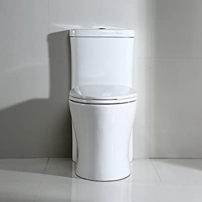 WOODBRIDGE Deluxe Dual Flush Elongated One Piece Toilet with Soft Closing Seat, B-0933/ T-0033