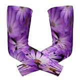 Arm Sleeves Purple Flower Mens Sun UV Protection Sleeves Arm Warmers Cool Long Set Covers