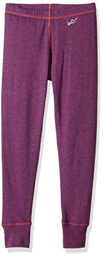Watson's Girls Double Layer Pant, Base Layer Thermal, Breathable Fabric, Warm Pants for Kids, Heather Purple - X-Small Size