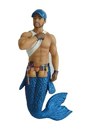 December Diamonds Tool Man Merman Christmas Holiday Ornament - New for 2013,Blue