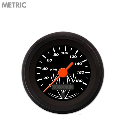 Pinstripe Black Speedometer Gauge 4676 Aurora Instruments GAR121ZMXHACAH