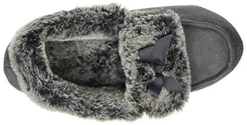 Mocc Fur Slippers Totes A Ladies Collo Gry Pantofole Alto Donna Suedette grey Grigio q4x1tFta