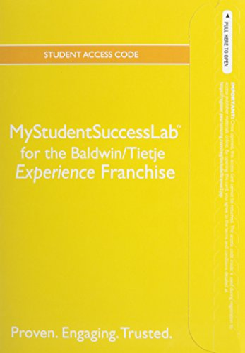 NEW MyStudentSuccessLab with Pearson eText -- Standalone Access Card -- for the College Experience Franchise