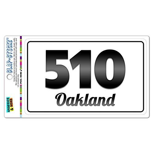 - Area Code B&W Window Laminated Sticker 510 California CA Alameda - Walnut Creek - Oakland