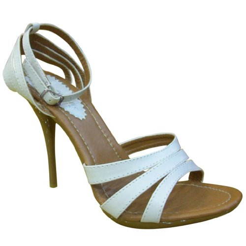 Beverly Moulins Femmes 71011 Sandales Stiletto Blanc