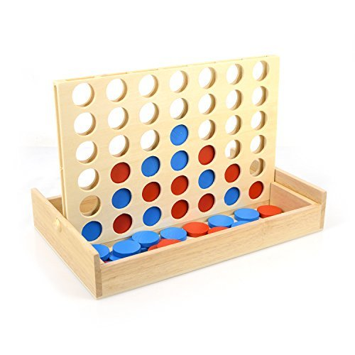 AMGlobal Connect Four  Connect 4 Game  Four in a Row. 4 in a Row Wooden Game  Classic Family Toy  Board Game For Kidsの商品画像