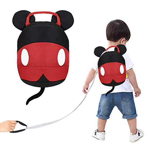 Accmor Toddler Harness Backpack Reins, Cute Anti-Lost Baby Backpack Leash, Mini Child Safety Harness Backpack with Hat for Boys Girls, Lightweight & Breathable