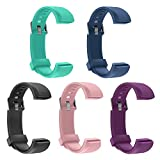 Letsfit Replacement Bands for Fitness Tracker ID115U HR, ID115U (Black Blue Pink Purple Green)
