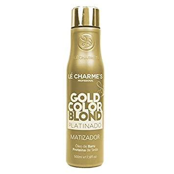 a9d74c47d Amazon.com : Linha Matizacao Le Charmes Cosmeticos - Gold Color Blond  Platinado 500 Ml - (Le Charmes Cosmeticos Brassiness Control Collection -  Platinum ...