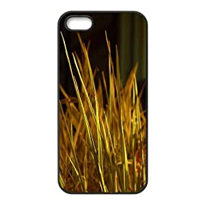 Cathyathome Grass IPhone 5,5S Cases Grass Blades, Funny Cute Grass, {Black}