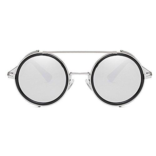 e40ef0c0c24a00 Mode Lunettes de soleil rondes lunettes de soleil Steampunk hibote Femmes  Hommes Lunettes de vue Retro ...