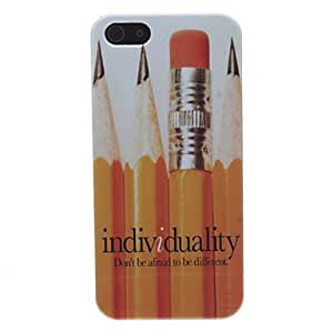 Pencil Pattern Hard Case for iPhone 5/5S