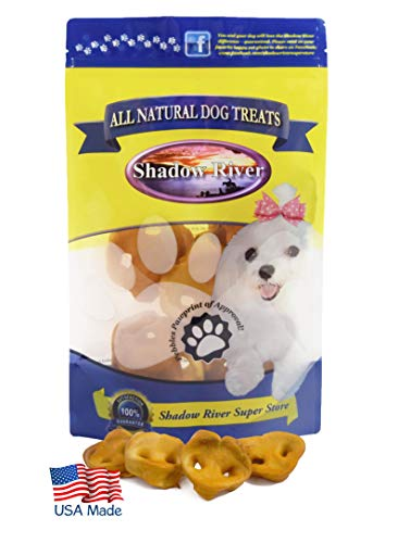 Shadow River Pig Snouts for Dogs - Premium All Natural Chews - 12 Pack Extra Small Pork Noses