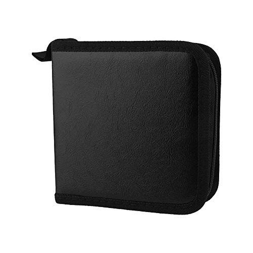 VistorHies - 40 Disc CD DVD Faux PU Leather Holder Storage Cover Case Organizer Wallet Bag Album Selling Top Quality 1 - Faux Cd Storage Leather