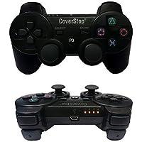 coverstop® Joystick Joypad Wireless Senza Filo Compatibile PS3 per Playstation 3 Controller Nero Bluetooth