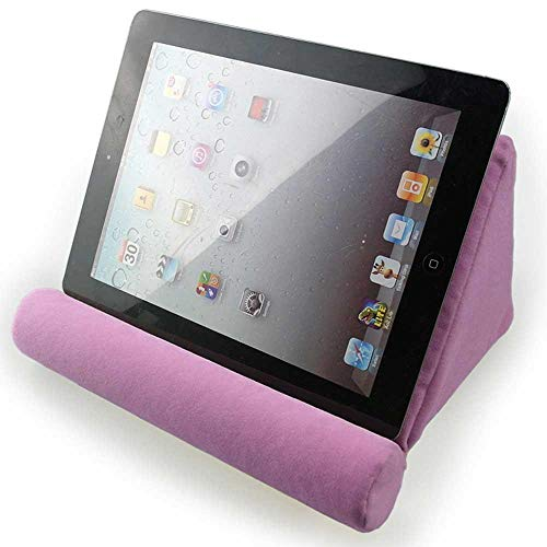 FOONEE Pad Pillow Stand, Tablet Sofa, Laptop Pillow Holder, Mini Tablet Computer Holder for IPad Air, Tablets, E-Readers, Smartphones, for Airplane, Train Plush Microfiber