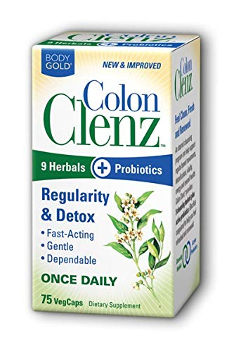 Body Gold Colon Clenz Remedies, 75 Count