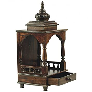 Shilpi Wooden Traditional Design Home Temple Wooden Pooja Mandir For Home Office Amazon In Home Kitchen