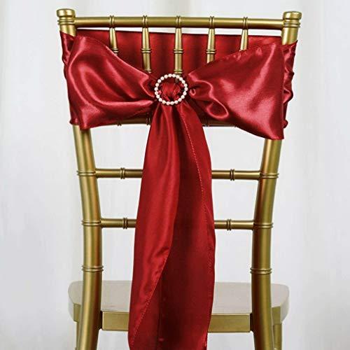 Mikash 75 New Satin Chair Sash Bows Ties Wedding Party Decorations Sale   Model WDDNGDCRTN - 11348   ()