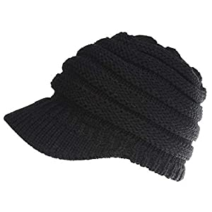 014f7aea6ee Libertepe Ponytail Beanie Cable Knit Winter Hat with Visor Hole for Women  and Girls  13.99. Click to enlargeClick to enlarge. Previous