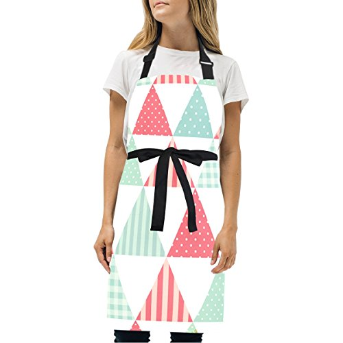 EVERUI Women Cooking Kitchen Patchwork in Shabby Chic Style Bib Apron, with Pockets, Machine Washable