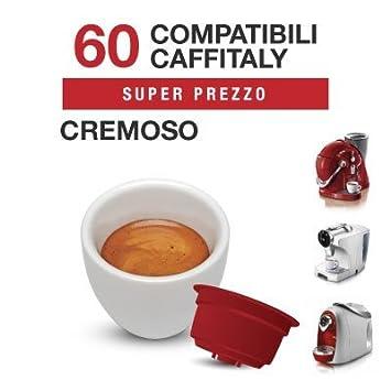 Caffitaly - 60 Capsulas Compatibles de Mezcla de café CREMOSO