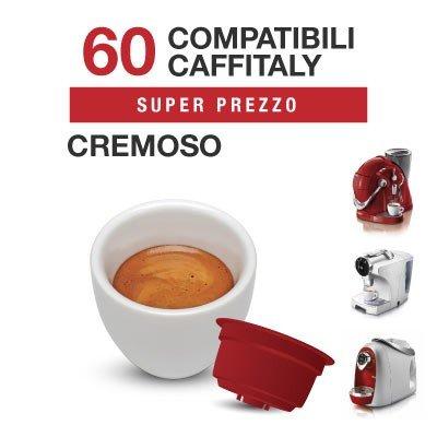 Caffitaly - 60 Capsulas Compatibles de Mezcla de café CREMOSO: Amazon.es: Alimentación y bebidas