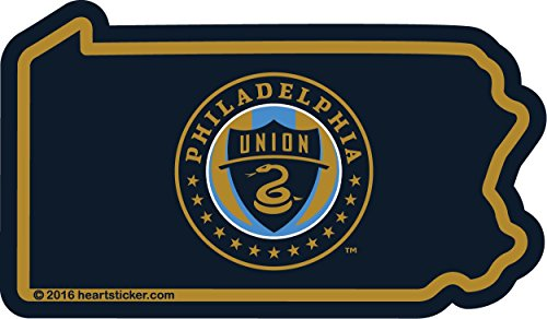 (Philadelphia Union Sticker Vinyl Decal Label Stickers, Die-Cut Shape for Water Bottle Laptop Luggage Bike Laptop Car Bumper Helmet Waterproof Show Love Pride Local Spirit. MLS Soccer)