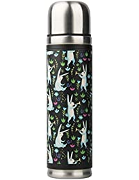Vacuum Cute Thermoses Bottle BPA Free, 17oz PU Leather...