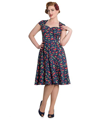 Kleid Blau Rockabilly Style Hell Blau Cherry 50s Bunny April TnqZxYRp