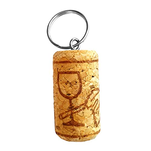 NATFUR Safety Water Floating Cork Keyring Keychain Fishing Boat Kayak Key Float Pretty Key-Chain for Women Holder Perfect Novelty Lovely Beauteous