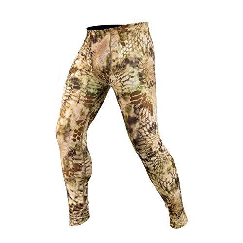 Kryptek Hoplite II Merino Wool Bottom LW - Camo Hunting Pant (Baselayer Collection), Highlander, M