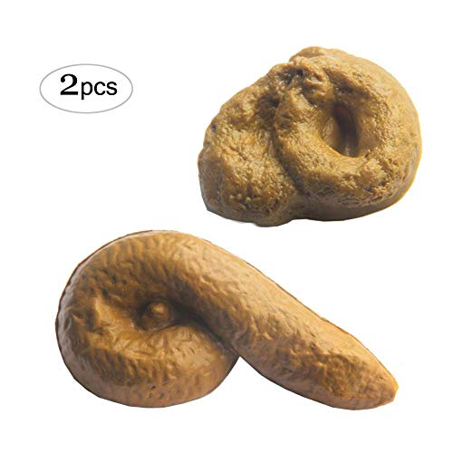 Nakimo Fake Poop Prank Funny Poop Toys Gag Gift Realistic Mischief Novelty Toys for Joke Trick Halloween April Fool 's Day Party, Pack of 2 ()