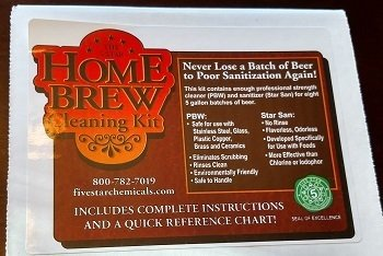 Home Brew Cleaning Kit - Pbw Five Star Cleaner