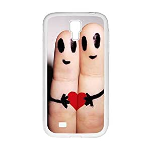 Lovely Finger Lover Heart Personalized Clear Cell Phone Case For Samsung Galaxy S4