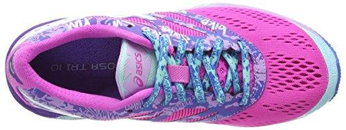 Asics Gel-Noosa Tri 10, Damen Laufschuhe Pink (pink Glow/aqua Splash/fuchsia 3567)
