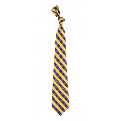 NFL Minnesota Vikings Men's Woven Polyester Check Necktie, One Size, Multicolor