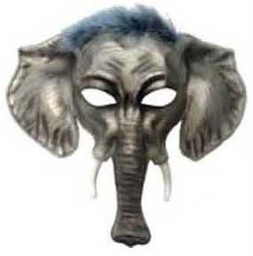 Forum Novelties Men's Elephant Animal Mask, Gray, One Size -
