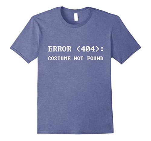 Mens Error 404 Costume Not Found Nerdy Halloween Costume T-Shirt XL Heather Blue -