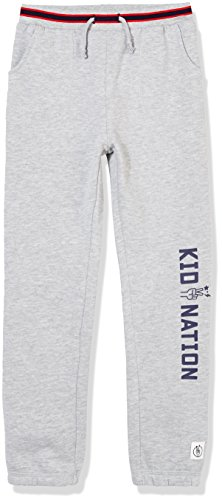 Girls Drawstring Waist Terry Cloth - Kid Nation Kid's Slouchy French Terry Lounge Sport Jogger for Boys and Girls XS Grey Heather