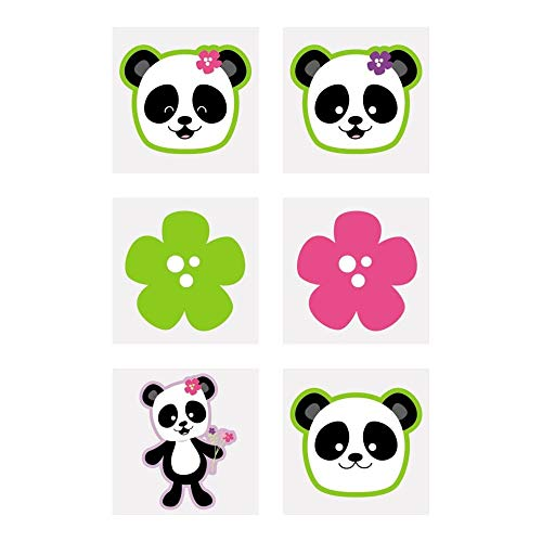 Panda Party Tattoos - 72 ct -