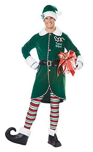 Elf Outfits For Adults (California Costumes Men's Workshop Elf/Adult, Green,)